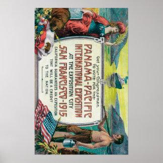 パナマ太平洋の国際的な博覧会 ポスター