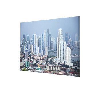 パナマ市のスカイライン キャンバスプリント