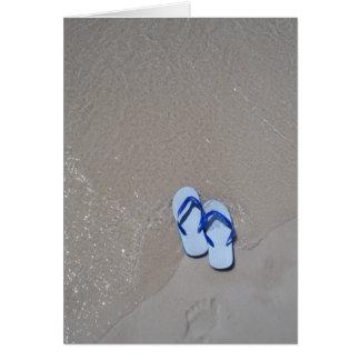 パナマ市のビーチのサンダル カード