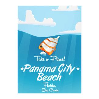 パナマ市のビーチのフロリダのヴィンテージ旅行ポスター キャンバスプリント
