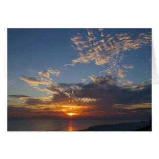 パナマ市のビーチの日没II カード