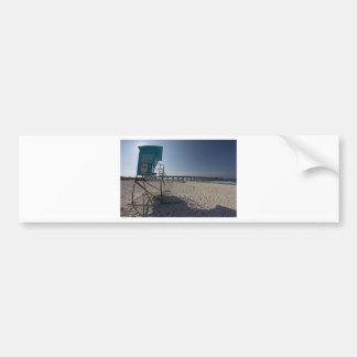 パナマ市のビーチ桟橋のライフガードタワー バンパーステッカー