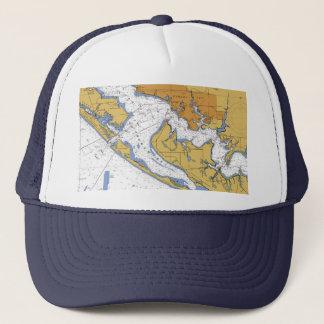 パナマ市フロリダ航海のな港の図表の帽子 キャップ
