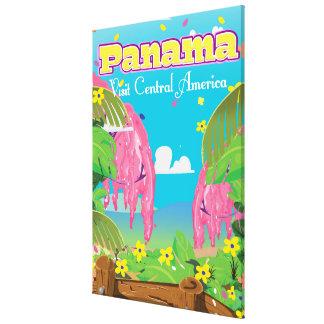 パナマ漫画旅行印刷物 キャンバスプリント