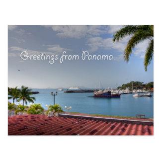 パナマ運河、郵便はがきからの挨拶 ポストカード