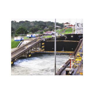 パナマ運河、Defの高い写真撮影 キャンバスプリント