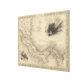 パナマ(1851年)のヴィンテージの地図 キャンバスプリント