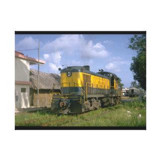 パナマ、RR世界の5フィートのgauge_Trains キャンバスプリント