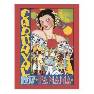 パナマCarnaval 1937年 ポストカード