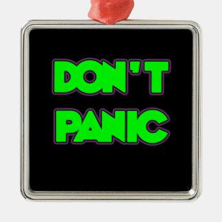 パニックに陥らないで下さい メタルオーナメント