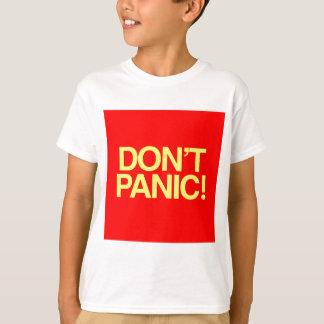 パニックに陥らないで下さい Tシャツ