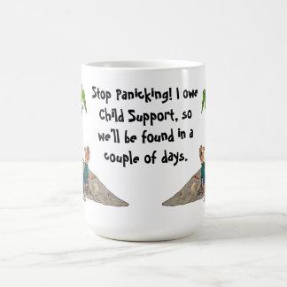 パニックに陥る停止私は養育費のマグを負います コーヒーマグカップ