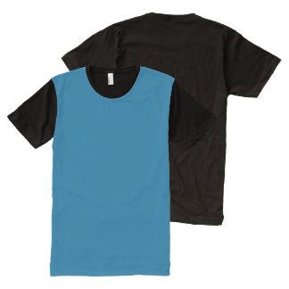パネルのTシャツ色: #006292 DIYはイメージの文字を加えます オールオーバープリントT シャツ