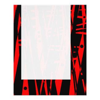 パネル020 -赤および黒の抽象芸術 チラシ