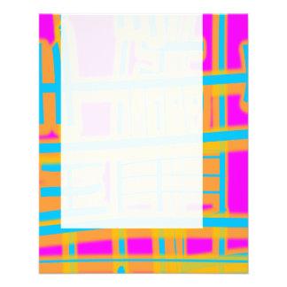 パネル059 -カラフルの抽象芸術 チラシ