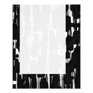 パネル060 -黒の抽象芸術 チラシ
