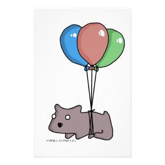 パネルO Maticによる気球のハムスターのフランク 便箋
