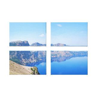 パノラマのcrater湖 キャンバスプリント