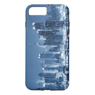 パノラマ式のニューヨークシティ夜スカイライン iPhone 8 PLUS/7 PLUSケース