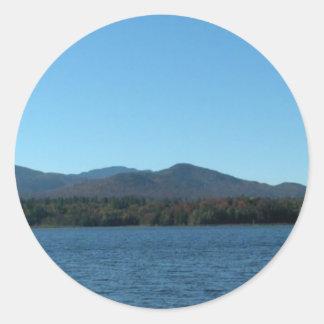 パノラマ式の山景色2のしおり ラウンドシール