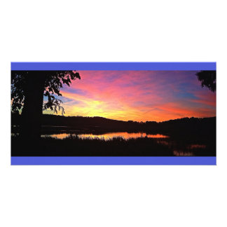 パノラマ式カラフルな日没 カード