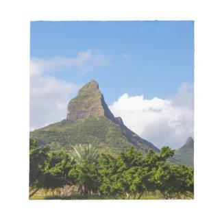 パノラマ式マリシャスのPiton de la Petite山 ノートパッド