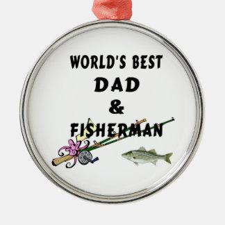 パパおよび漁師 メタルオーナメント