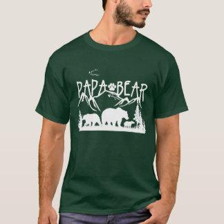 パパくまの素晴らしいアウトドアのTシャツ(暗い色のために) Tシャツ