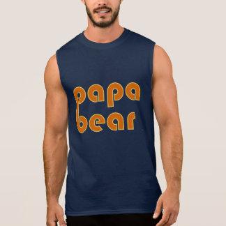 パパくま(オレンジ) 袖なしシャツ
