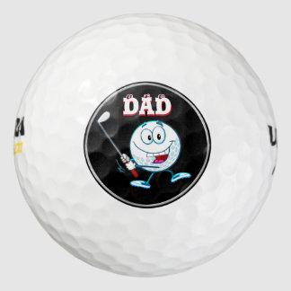 パパのためのゴルフギフト、置かれるカスタムなゴルフ・ボールのギフト ゴルフボール