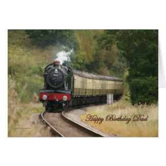パパのためのハッピーバースデーの蒸気機関車 カード