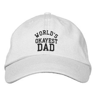 パパのための世界のOkayestのパパの父の日のおもしろいな帽子 刺繍入りキャップ