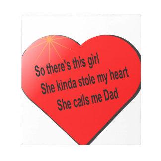 パパのための女の子のsayin ノートパッド