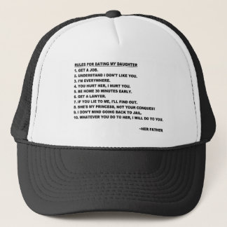 パパのための私の娘の帽子に日付を記入するための規則 キャップ