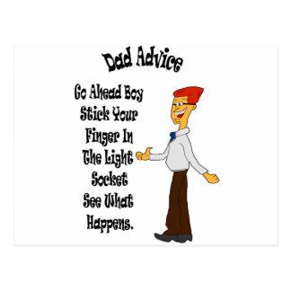 パパのアドバイスの…棒軽いソケットのあなたの指 ポストカード