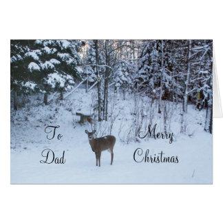 パパのクリスマスシカ カード
