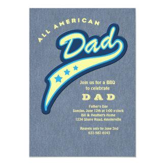 パパのデニムの父の日の招待状 カード