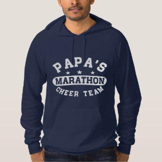 パパのマラソンの応援のチーム パーカ