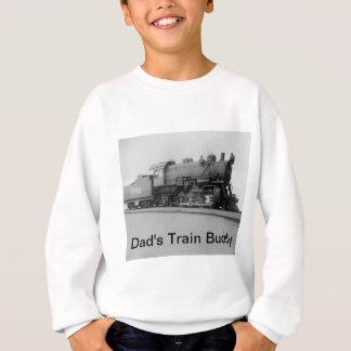 パパの列車の相棒のヴィンテージの蒸気機関 スウェットシャツ