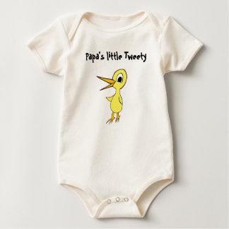 パパの少しTweetyのワイシャツ ベビーボディスーツ