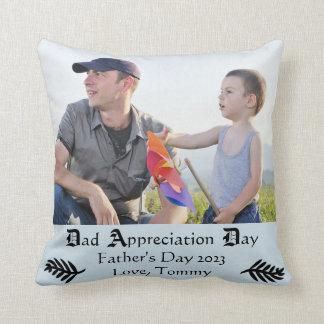 パパの感謝日-正方形の装飾用クッション クッション