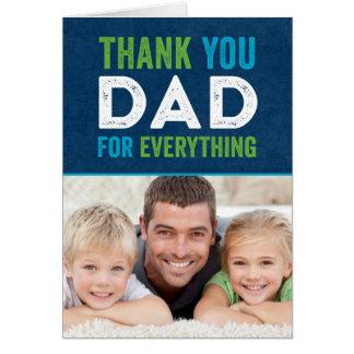 パパの父の日の写真カードありがとう ノートカード
