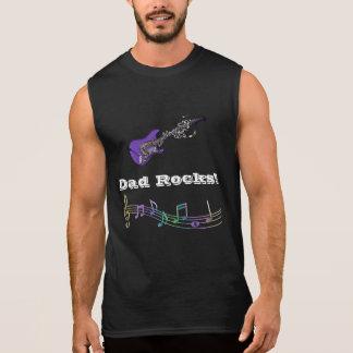 パパの石! エレキギターのパパのミュージシャンのタンクトップ 袖なしシャツ