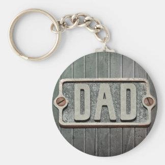 パパの素朴な金属板 キーホルダー