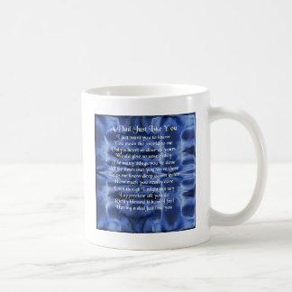 パパの詩-青いサテンのデザイン コーヒーマグカップ