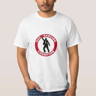 パパの踊りのチャンピオン-パパのためのおもしろいなワイシャツ Tシャツ