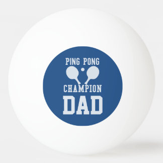 パパの青い卓球のチャンピオンのカスタムの球 卓球ボール