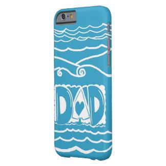 パパの青く白いヨットの芸術のiPhone6ケース Barely There iPhone 6 ケース