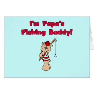 パパの魚釣りの相棒のTシャツおよびギフト カード