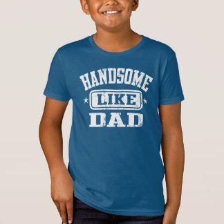 パパの黒のようにハンサム Tシャツ